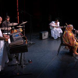 Noura Mint Seymali at Kennedy Center, Millennium Stage, November 2019. Photography by Thom Goertel.