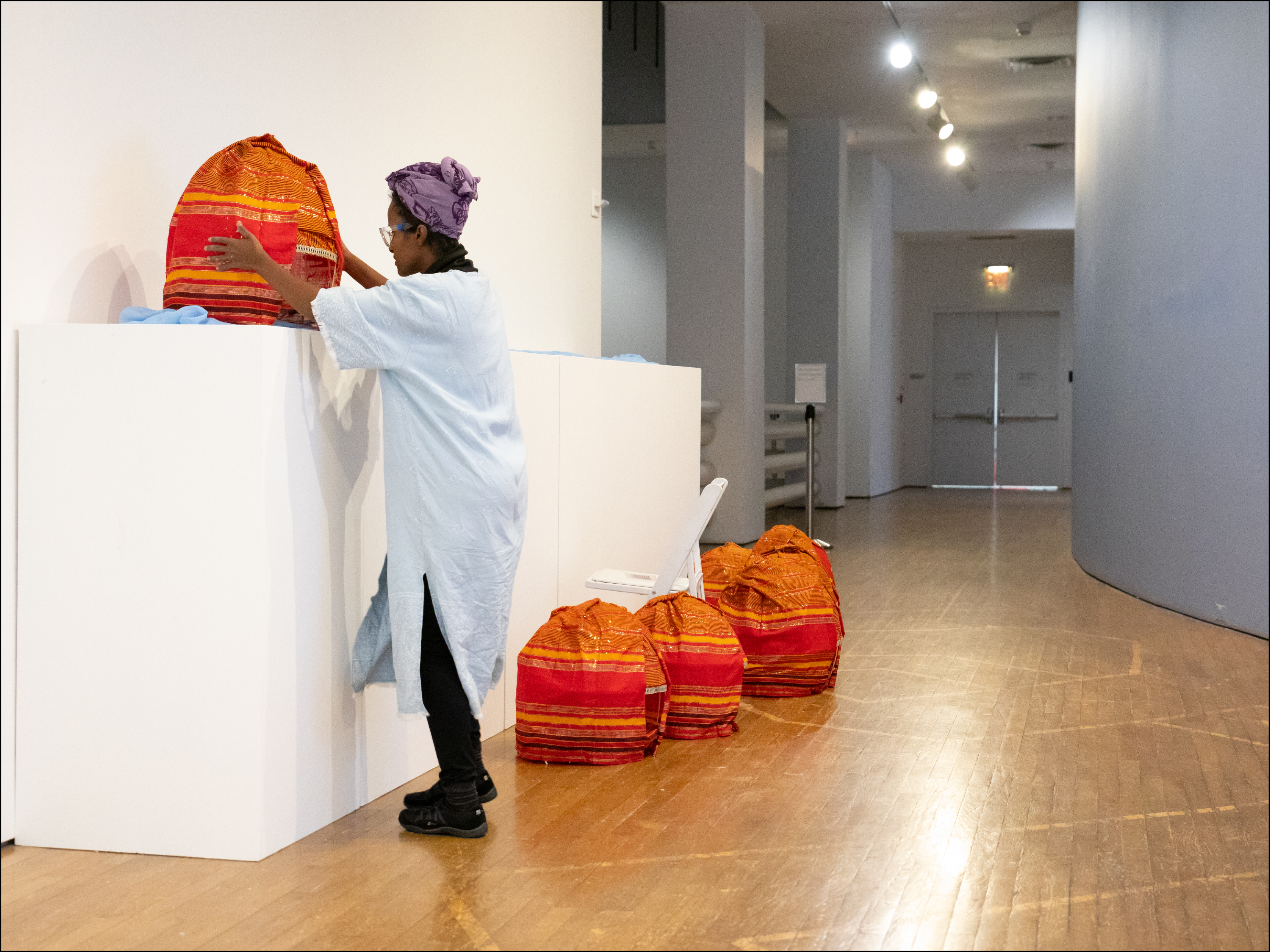"""Ifrah Mansour installs her work, """"My Banned Aqal"""""""